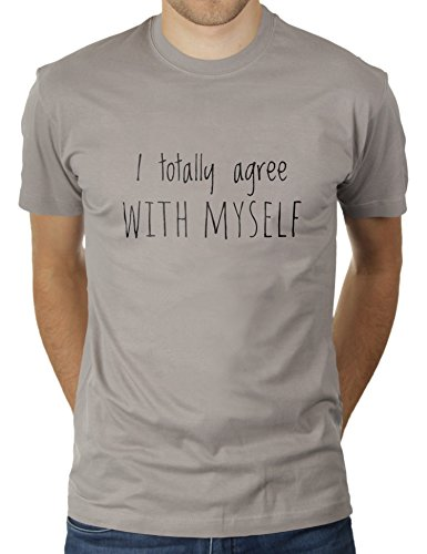 4 Light Post Oben (Likoli I Totally Agree With Myself - Herren T-Shirt von KaterLikoli, Gr. L, Light Gray)