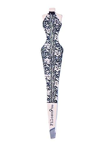 Filosofille Pince à Épiler Buste Sofie au Palace Professionnelle Mors Biais Longueur 9,5 cm
