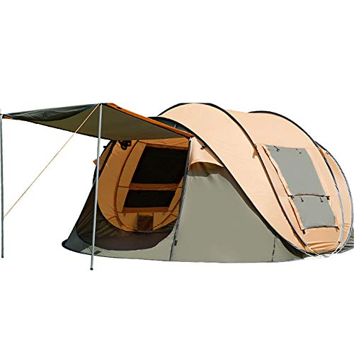 CXJC Camping Zelte 2-5 Personen Automatische Werfen 1 Sek. Pop-up wasserdichte Outdoor Wandern Strand Zelt Sonnencreme Family Tipi M