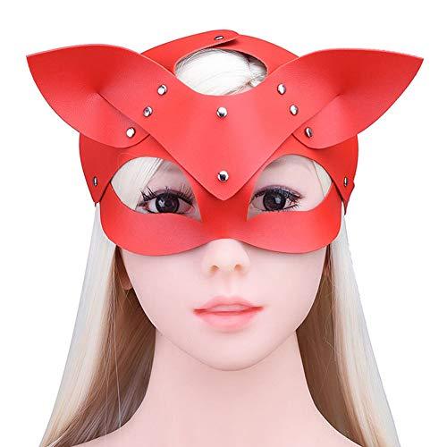 Paare Leder Gesichtsbedeckung Atmungsaktive Maske Hundekopf Cosplay Kostüm Sexy Anzug Kopfbedeckung Erotikspiele Spielzeug - Lustig Gesetzes Kostüm