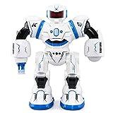 WQGNMJZ Robot, Robot di Controllo remoto, Telecomando Intelligente Robot ad induzione, ballando Contro la Luce con i Bambini in Standby Lunghi Giocattoli educativi,Blue