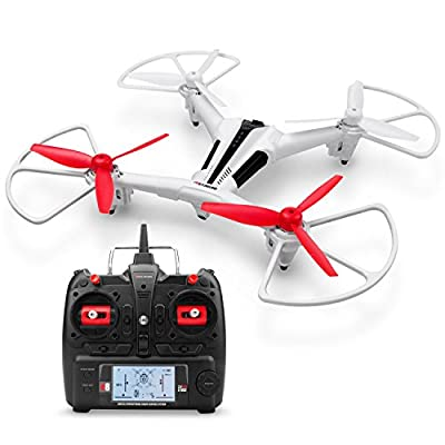 Metakoo Drone with Camera Remote Control Helicopter Quadcopter with Optical Flow Positioning Altitude Hold Headless Mode 3D Flip Helicopter with Remote Control