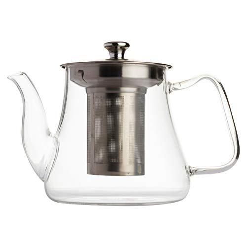 VAHDAM, Glasteekanne mit Infuser | 33 oz / 1000ml teekanne mit sieb für losen Tee | Perfekte teekanne Glas | Teekanne für Herd | Kratzfeste, mikrowellengeeignete Teeschneidemaschine | teefilter Teekanne Tee Infuser