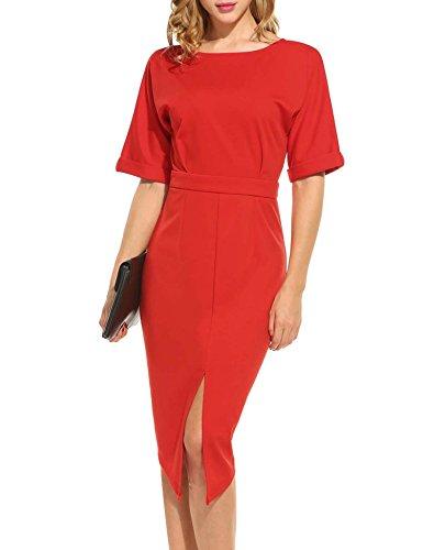 Parabler Bleistiftkleid Business Kleid Bodycon Figurbetontes Etuikleid Abendkleid Abschlusskleid...