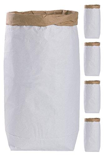 5x DIY Saco papel Paper Bag alrededor papel kraft