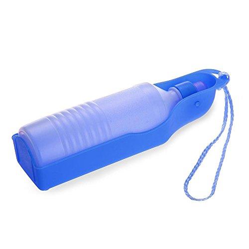TOOGOO(R) 500ml Bleu Gourde avec bouteille distributeur d'eau Portable pour Chien Chat
