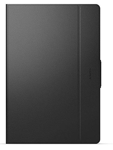 Sony Mobile Flip Folio Hülle Case Cover Faltbar mit Integrierter Stand-Funktion und Auto Wake/Sleep (Wach-/Schlaffunktion) für Xperia Z4 Tablet - Schwarz
