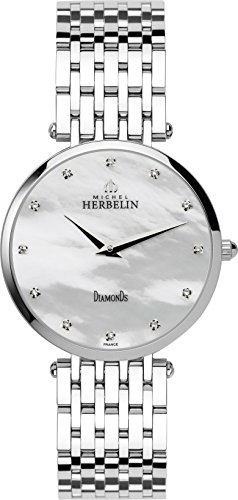 Michel Herbelin Epsilon Midi Bct Women's Quartz Watch with Mother of Pearl Dial Analogue Display and Silver Stainless Steel Bracelet 17345/B89