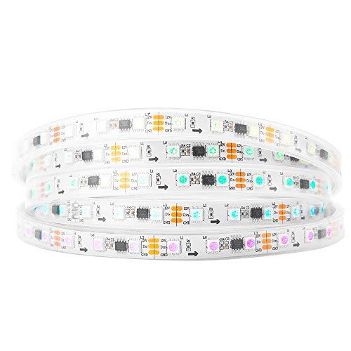 BTF-LIGHTING WS2811 5M 60 LEDs/m 300LEDs RGB DC12V adressierbare Streifen mit 5050 SMD LEDs Wasserdicht in Rohr IP67