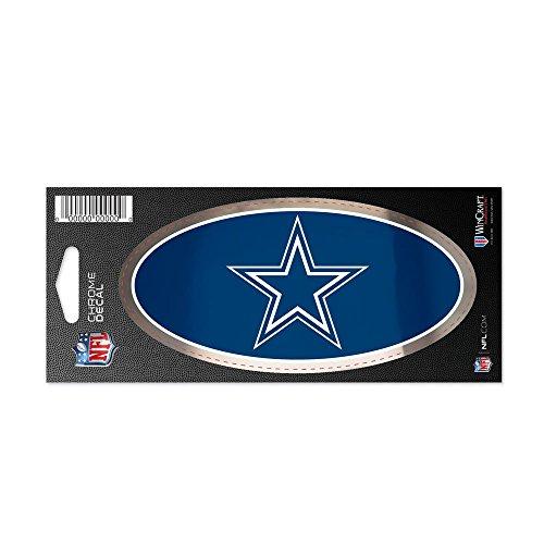 NFL Offizieller Dallas Cowboys Aufkleber Chrom in 7,6 x 17,7 cm
