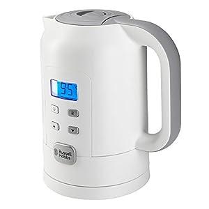 Russell Hobbs Precision Control 21150-70 Wasserkocher, Warmhaltefunktion, Elektronische Temperatureinstellung mit LCD-Anzeige, weiß