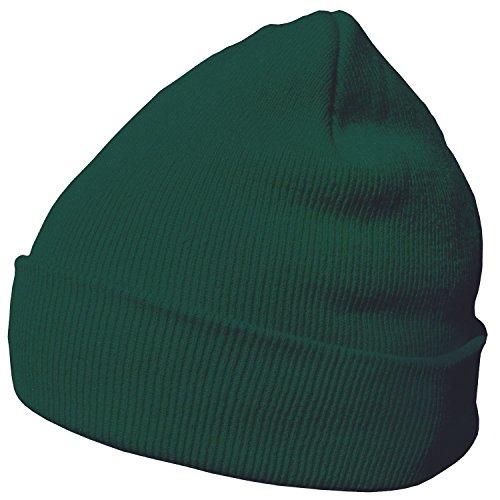 DonDon Wintermütze Mütze warm klassisches Design modern und weich tannengrün