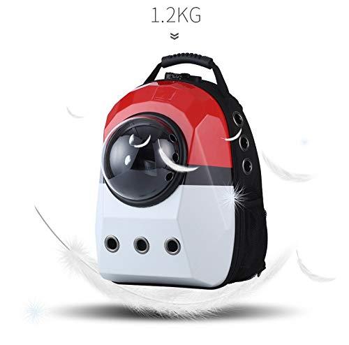 Transparenter Raum tragbare Haustierkapsel, Traveller Cat Dog Carrier Schulterrucksack (White-Diamond) (White Carrier Dog)