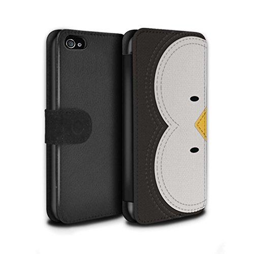 Stuff4 Coque/Etui/Housse Cuir PU Case/Cover pour Apple iPhone 6S / Panda Design / Cousu des Animaux Effet Collection Manchot