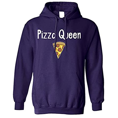 Pizza Queen I Love Pizza Food Girly Funny Slogan Cool Comfort Eating Cheese Pepperoni Crust Trend Hipster Unisex Hoodie Cool Birthday Gift