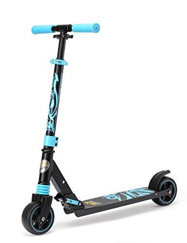 Star-Scooter Kickscooter Roller Kinderroller Tretroller für Jungen und Mädchen ab 4 - 5 Jahre ★ Kinder Roller klappbar mit extra dicken Rädern ★ Schwarz & Blau