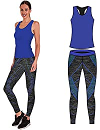 ace284c29ff9f Bonjour Women s Sportswear Wear Vest and Crop Top   Leggings (2 Piece Set  Top