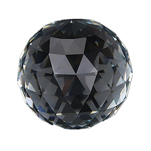 1 Stück 60/80mm Klar Geschliffen Kristallglaskugel, Transluzent Facettiert Blick Ball Kristall Prismen Glaskugel für Home Hotel Decor Hardware Armaturen(60MM/2.36in)
