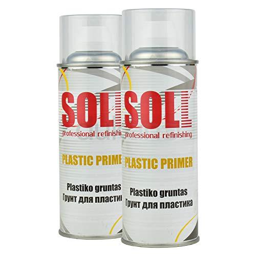 2X Kunststoffprimer Kunststoff Haftvermittler Plastikprimer Plastik Grundierung Spray 400ml (Spray Spülmittel)