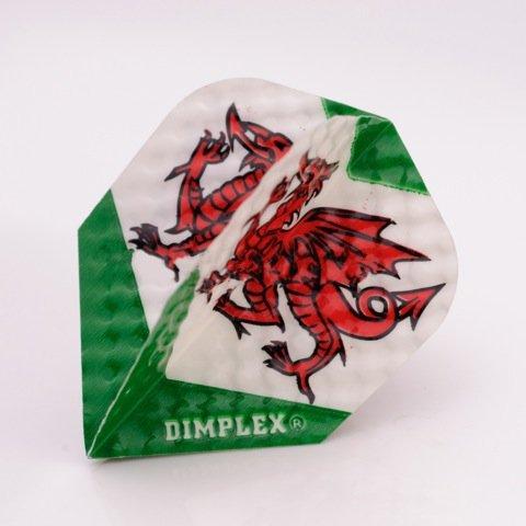 F6032 Welsh Dragon Dimplex Dart Flights 4 sets pro pack (12 flights insgesamt).
