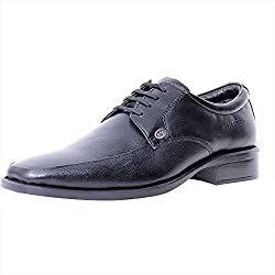 Valentino Mens Black Leather Formal Shoes - 10