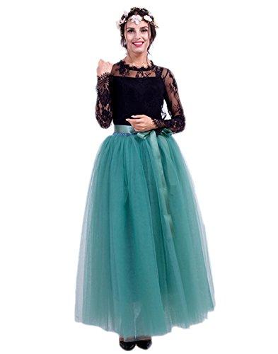 Honeystore Damen's Tüllrock Lang 5 Layer Prinzessin Kleider Lang Petticoat Ballettrock Maxi Unterrock Pettiskirt Lang One Size (Revolution Kostüm Dance)