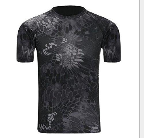 Hippolo Herren Tshirt Camouflage Army Style T-Shirt (L, Stil 3) -