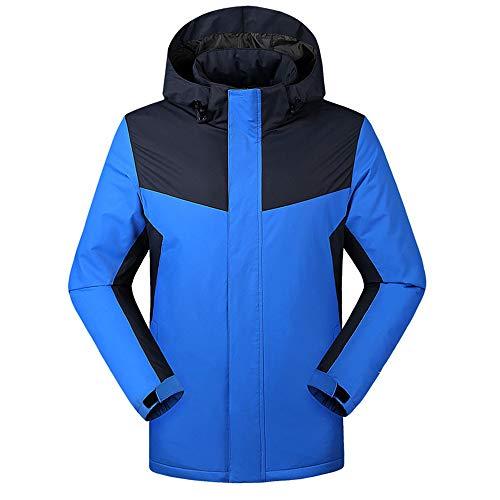 XASY Beheizbare Jacke,Winddicht warm Schwarz Winterjacke Herren und Damen Heizungs Jacke Hoodie Mit USB-Kabel