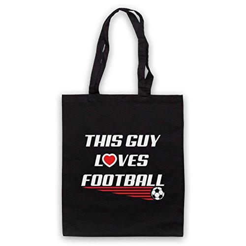 Questo Ragazzo Ama Lo Slogan Del Football Americano Umhangetaschen Schwarz
