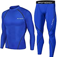 Men Workout Clothes - Quick Dry, Compression Tops Tight Trousers Training Workout Long Sleeve Shirts Long Pant