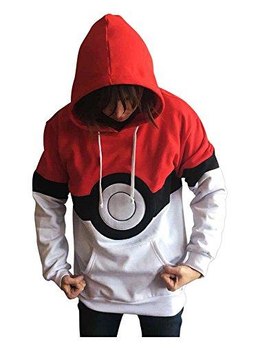 Hoodie Pokemon (Ash Ketchum Kapuzenjacke Pokemon Anime Hoodie Unisex)