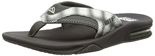 Reef Fanning Prints, Flip-flop homme Blanc (White Plaid 14)