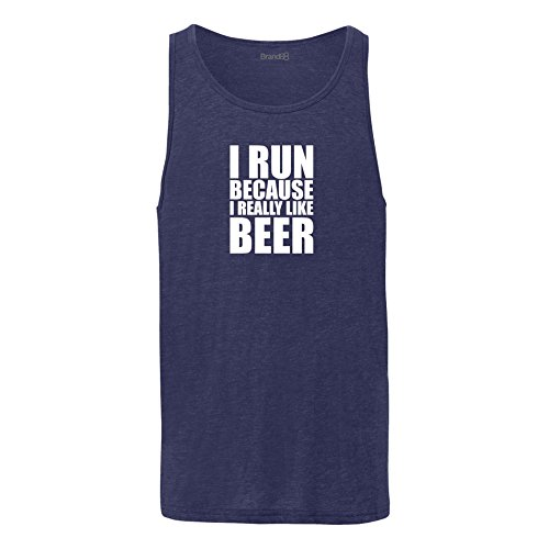 Brand88 - I Run Because I Really Like Beer, Unisex Jersey Weste Marine Blau