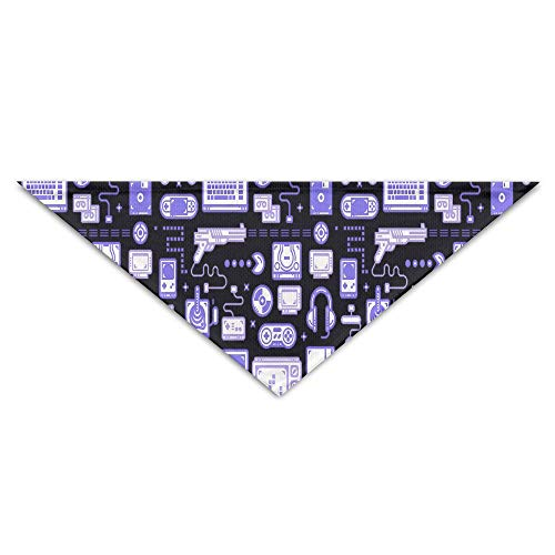 dfegyfr Blue Gaming Pattern Baby Pet Triangle Head Scarfs Dog Scarves Puppy Triangle 18.5
