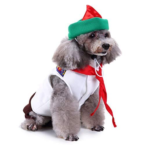 NYJ Weihnachten Hundebekleidung, Geschenk Katze Hund Kellner Dress Up Kostüm Woolen Jacke Overall Puppy Kleidung (größe : S)