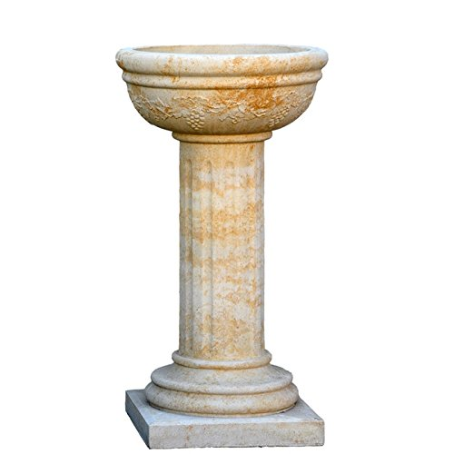Jardin Rêve Fleurs sur colonne – chaeux 36x36x79cm (BxTxH) blanc