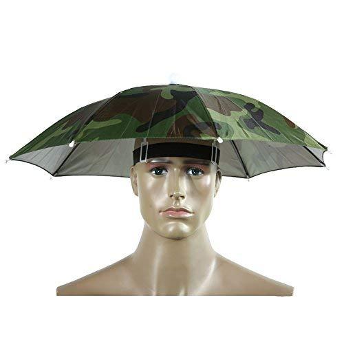Broadroot Protable paraguas sombrero un tamaño sombrero de sol, 55 cm