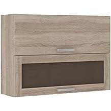 amazon.fr : meuble haut cuisine vitre - Meuble Haut Cuisine Vitre