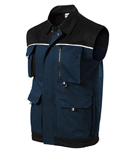 Herren Arbeitsweste Woody Arbeitskleidung / Weste (S, marineblau)
