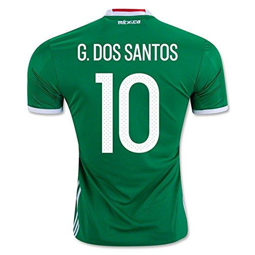 2018 FIFA World Cup Mexiko 10 Jonathan DOS SANTOS Home National Football Soccer Jersey in Grün Medium grün - grün (Mexico World Cup)