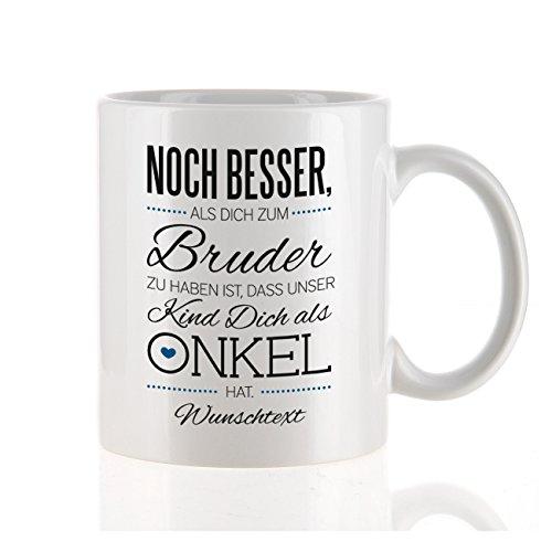 Herz & Heim moderne Kaffeetasse als Kompliment für den besten Onkel mit Gratis Druck Ihres...