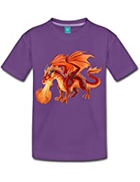 Spreadshirt Fire Dragon Kids' Premium T-Shirt