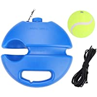 Alomejor Tenis Baseboard Ball Trainer, Profesional Autoestudio Redondo Base de Tenis Trainer Deportes Entrenamiento Equipo de Práctica
