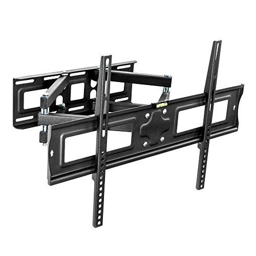 TecTake Support mural TV universel inclinable et pivotant pour écrans plats Vesa max. 600x400 32-65\\