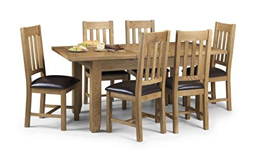 Julian Bowen Astoria Eiche Ausziehbarer Esstisch mit 6Stühlen, Eiche hell (Ausziehbarer Esstisch Stühle)