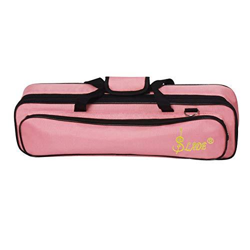 XuBa Leichter Tragbarer Flöten-Rucksack mit Tragegriff und Schultergurt Rose