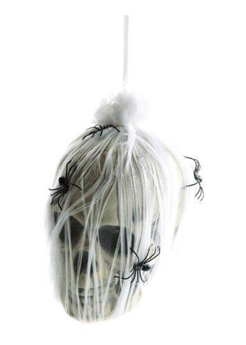 Totenkopf im Spinnennetz mit animierten LED Augen