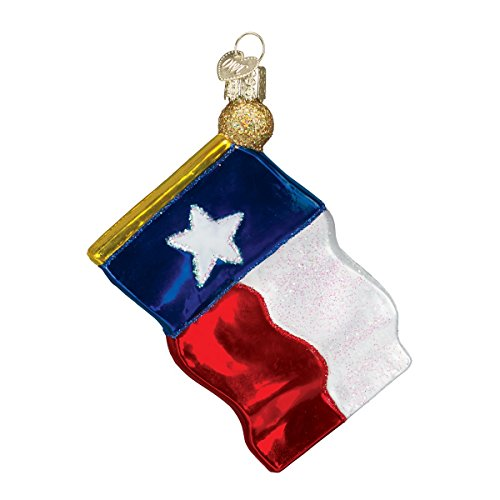 Old World Christbaumschmuck Texas State/Flag 2 1/2