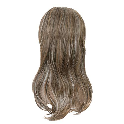 Mypace Mittellanges Lockiges Haar Für Damenmode Perücke Gold Kunsthaar Lange Perücken Welle Lockige Perücke 50cm Rose Intranet -