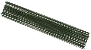 Knorr Prandell 6479200 - Alambres para creación de Flores (0,8 mm, 20 cm, 60 Unidades), Color Verde
